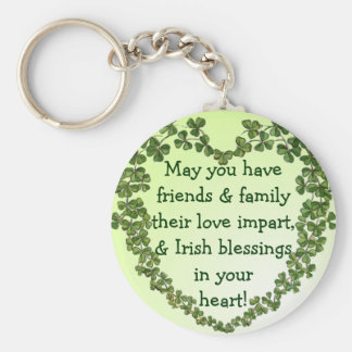 Irish blessing heart keychain