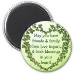 Irish blessing heart magnet