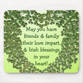 Irish blessing heart mousepad