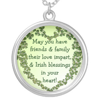 Irish blessing heart necklace