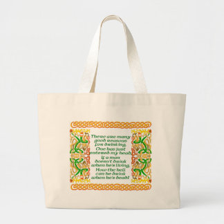 Irish Blessing II Large Tote Bag