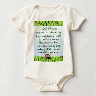 Irish Blessing infant onsie creeper