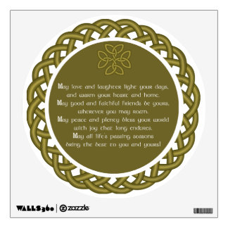 Irish Blessing - May Love And Laughter Wall Sticker