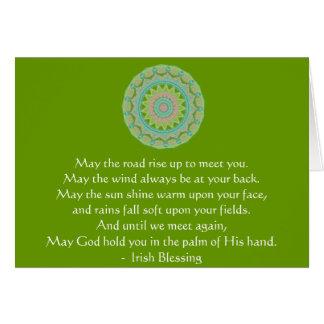 Irish Blessing may the road Card