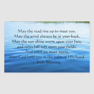 Irish Blessing may the road Rectangular Sticker