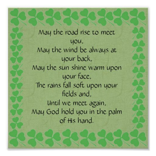 an old irish blessing may the road rise to meet you