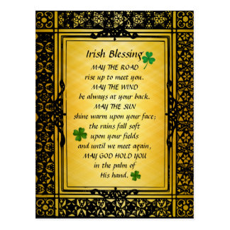 Irish Blessing, May the Road Rise Up to Meet You Postcard