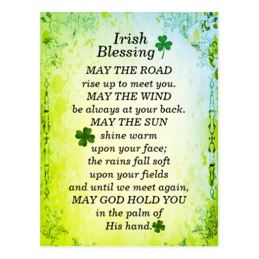 CChristianDesigns Irish Blessing, May the Road Rise Up to Meet You Postcard