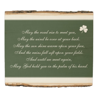 Irish Blessing May The Road Rise Up To Meet You Wood Panel