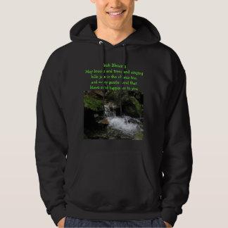 Irish blessing mens hoodie