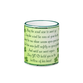 Irish blessing mug