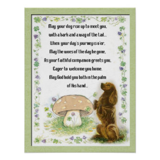 Irish Blessing of the Dogs Poster