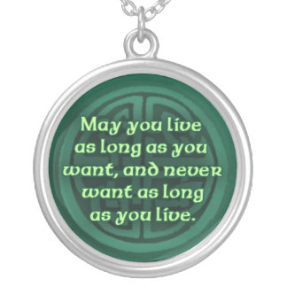 Irish Blessing on a Silver Necklace