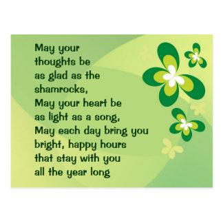 Irish blessing postcard