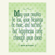 Irish Blessing Postcard