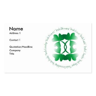 Irish Blessing Profile Card Double-Sided Standard Business Cards (Pack Of 100)