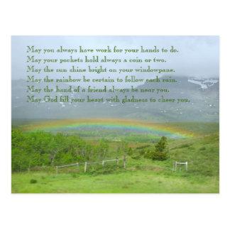 Irish Blessing Rainbow Photo Postcard