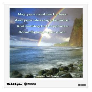 Irish Blessing Rainbow Room Stickers