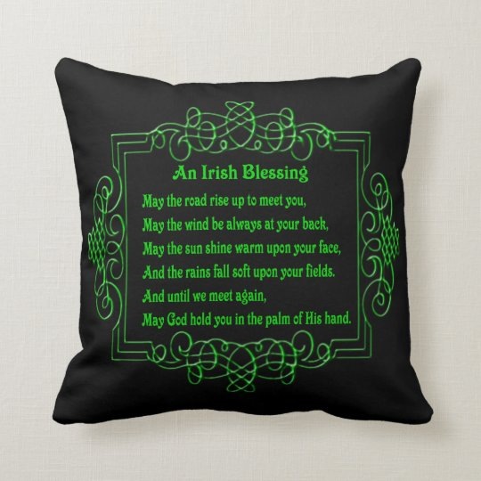 Irish Blessing Reversible Pillow
