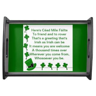 Irish Blessing Service Trays