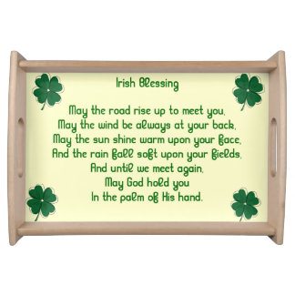 Irish Blessing Serving Tray