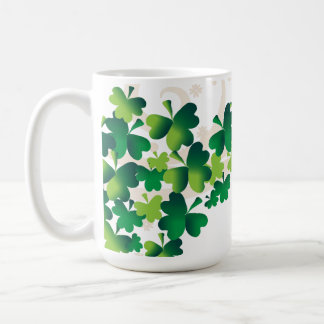 Irish Blessing Shamrock Mug