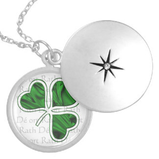 Irish Blessing Silver Plated Necklace
