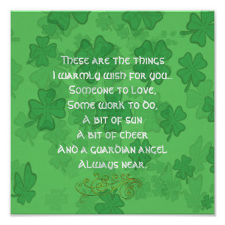 Irish Blessing - Someone to Love Poster