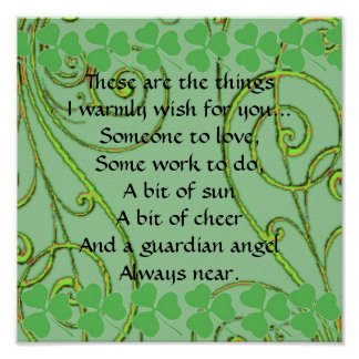 Irish Blessing - Someone to Love - Some Work Poster