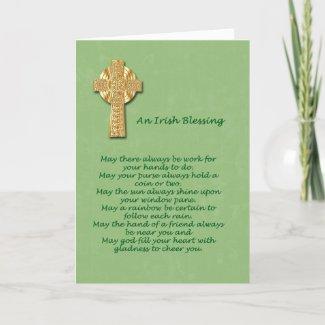 Irish Blessing St. Patrick's Day Card