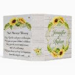 Irish Blessing Sunflower Wedding / All Occasion 3 Ring Binder