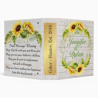 Irish Blessing Sunflower Wedding / All Occasion Binder