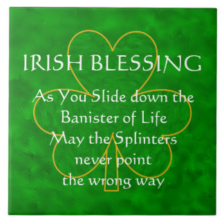 Irish Blessing - the Banister of Life Tile