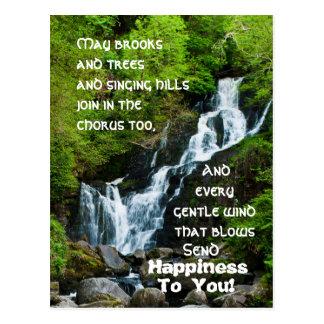 Irish Blessing Torc Waterfall Ireland Postcard