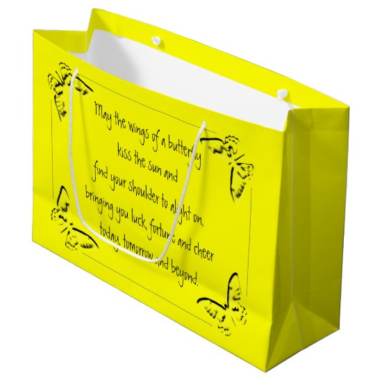 Irish Blessing: Wings of a Butterfly Large Gift Bag