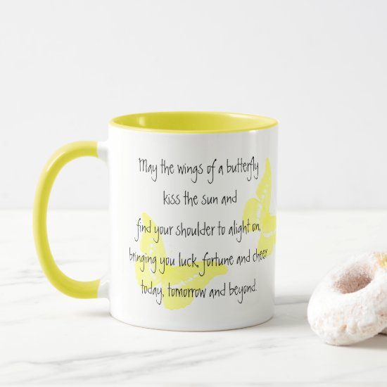 Irish Blessing: Wings of a Butterfly Mug
