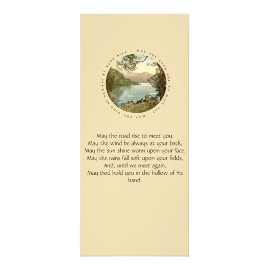Irish Blessing with Vintage Lake in Ireland Rack Card