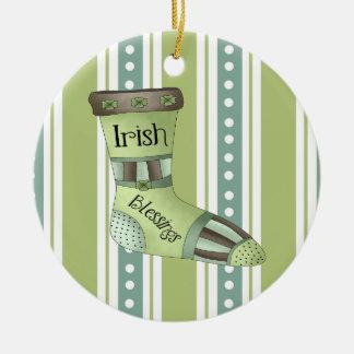 Irish Blessings Christmas Ornament