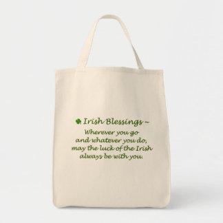 Irish Blessings-Grocery Tote Bag