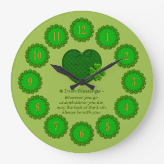 Irish Blessings-Round Wall Clock