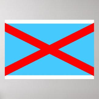 Irish Blueshirts, Colombia flag Print