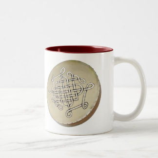 Irish Bodhran - Irish Step Dance Two-Tone Coffee Mug