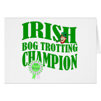 Irish bog trotting champion card