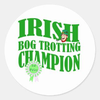 Irish bog trotting champion classic round sticker