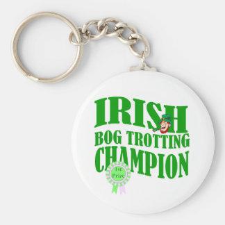 Irish bog trotting champion keychain