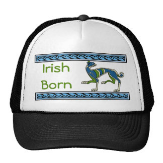 Irish Born Medieval Illumination Celtic Dog Trucker Hat