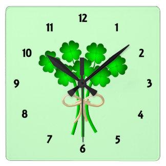 Irish Bouquet Square Wall Clock