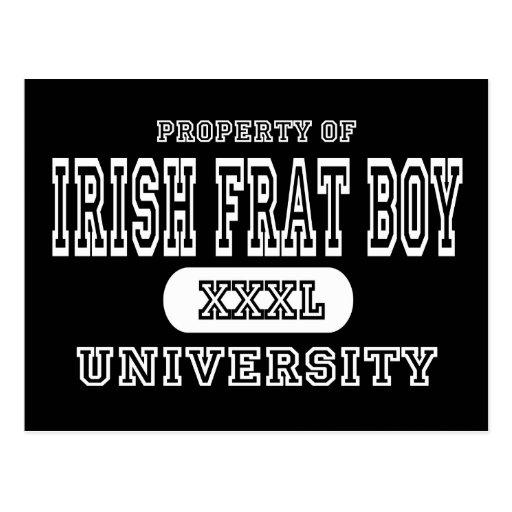 Irish Boy Dark Postcard