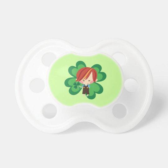 Irish Boy New Baby St Patricks Shower Gift Pacifier