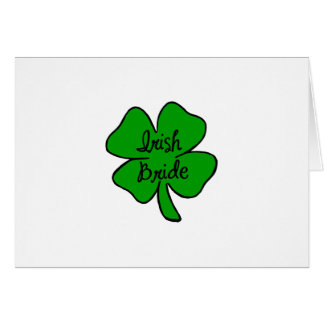 Irish Bride Card